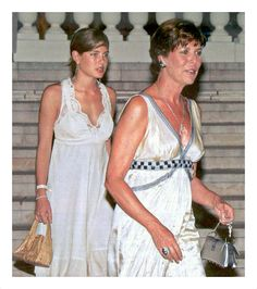 Charlotte Casiraghi with her mother Princess Caroline of Monaco, 2006