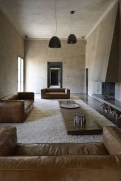 Using sun-dried bricks made from local dirt, Karl Fournier and Olivier Marty of Studio Ko constructed Villa D in Al Ouidane as a house from… Loft Interior, Interior Architecture, Interior And Exterior, Creative Architecture, Interior Plants, Casa Wabi, Chandelier Creative, Casa Cook, Muebles Living