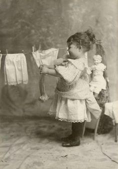 Mijn wasje te drogen hangen.