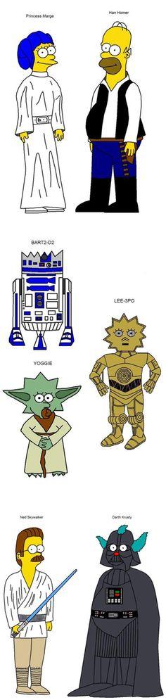 Mash-up Simpsons / Star Wars