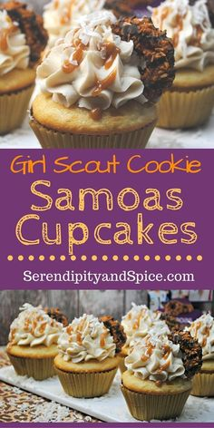 Girl Scout Samoas Cupcake Recipe
