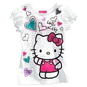 Hello Kitty Kids T-Shirts, Little Girls Puff-Sleeved Graphic Tees