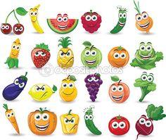 Imagenes de frutas y verduras en caricaturas  Imagui  DIETETICA
