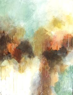 "Melissa Payne Baker, ""Winter Sky III,"" mixed media on canvas, 30 x 22"
