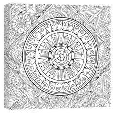 Zen Mandala Coloring Canvas Wall Art Giveaway {US} 7/10/16 via... IFTTT reddit giveaways freebies contests