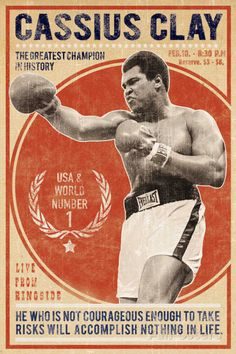 The Champion Sports Giclee Print - 61 x 91 cm Sports Illustrated, Muhammad Ali Boxing, Boxing Posters, Sports Posters, Boxing History, Sports Art, Painting Edges, Stretched Canvas Prints, Vintage Posters