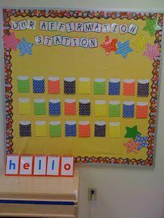 Capturing Kids Hearts Affirmation Station-  I like naming it the affirmation station!