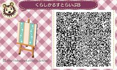 Animal Crossing New Leaf QR codes pattern for wallpaper or furniture customization