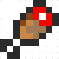 Minecraft Meat Heath Bar Perler Bead Pattern / Bead Sprite