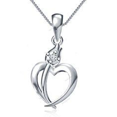 925 Silver D/VVS1 Diamond White Gold Finish Fancy Heart Flower Unique Pendant…