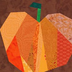 Pumpkin by Jennifer Ofenstein (sewhooked.com), via Flickr, plus a ton of other paper piecing patterns
