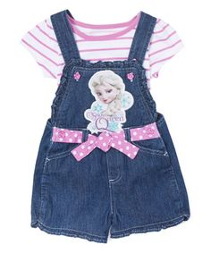 Look at this #zulilyfind! Frozen Elsa Purple 'Snow Queen' Tee & Overalls - Girls #zulilyfinds
