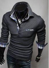 YUNY Men Long-Sleeve Henry Knitwear Winter Top Pullover Sweater Wine Red XL