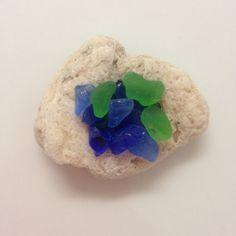 Sea Rock Piece Blue GlassExtra Small Sea GlassBulk by AmorNtheBox