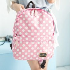 Backpacks for girls bold dot practical bags TW-4043