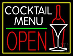 1000 images about Cocktail Open Neon Signs on Pinterest #1: 98c2eb e5c654df901b4e170f25