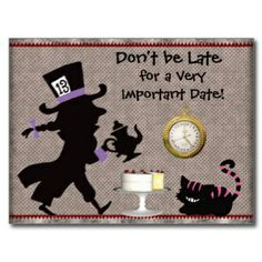 Mad Hatter Tea Party Ideas | ... Shirts, Red Hatters Gifts, Posters, Cards, and other Gift Ideas
