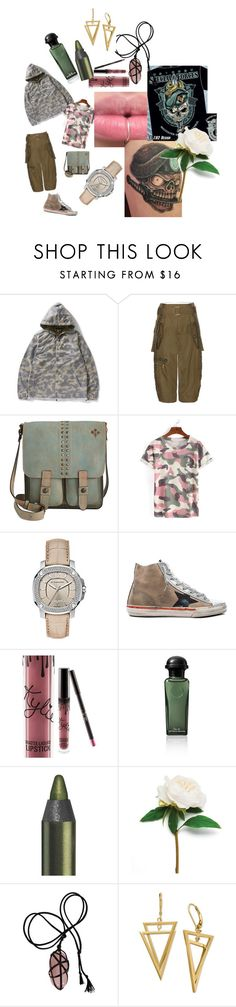 """""""ARMY  Special Forces_Skull collection"""" by sweetdream1998 ❤ liked on Polyvore featuring Marc Jacobs, Patricia Nash, WithChic, Burberry, Golden Goose and Kylie Cosmetics"""