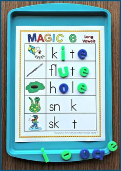 Cookie Sheet Activities for Magic e!