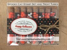 Spooky Cat and The Little Things Stamp Sets and Stampin' Up! Treat Tubes