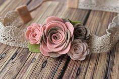 Vintage fieltro a flor diadema garland de por muffintopsandtutus