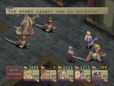 Breath of Fire IV Isometric, 3D scene, 2D characters.