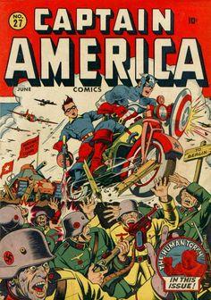 Captain America Comics # 27 by Alex Schomburg