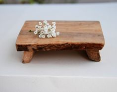 Set of 4 Cutting Boards / Cake Plates Rustic Maple via Etsy.