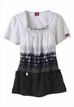 Dickies Medical Uniforms Vice Versa print scrub top.