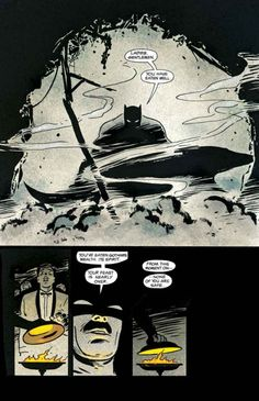 """From """"Batman : Year One"""", by Frank Miller and David Mazzucchelli : Easily one of my favorite pages, and explains Batman in a nutshell"""