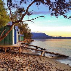 Sunrise serenity at Coningham Beach, south of Hobart, Tasmania. Australia Living, Australia Travel, Largest Countries, Tasmania, East Coast, New Zealand, Travel Photography, Beautiful Places, Scenery
