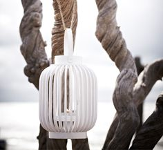 white bamboo lantern