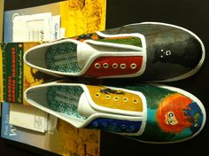 Hand painted shoes by local artist Amy Smith