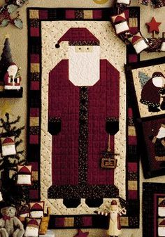 quilted santa wall hanging from debbie mumm