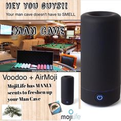 Easy man cave smell solution. https://www.mojiproducts.com/Jolene/6503/products