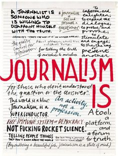 """What is journalism for? : Columbia Journalism Review"" Love the layout of this, and completely separate of that I love how inspiring it is."