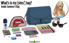 Handbag clutter Summer at Around the Sims 4 • Sims 4 Updates