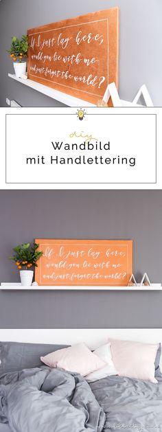 Wanddeko: Leinwand mit Handlettering Quotes selber machen - Ein persönliches Highlight für dein Zuhause