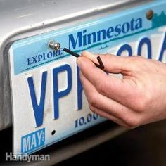 Prevent license plate theft by using special license plate security screws that require a special security wrench to remove. Car Fix, Car Hacks, Diy Car, Car Cleaning, Cleaning Hacks, The Body Shop, Just In Case, Helpful Hints, Random Stuff