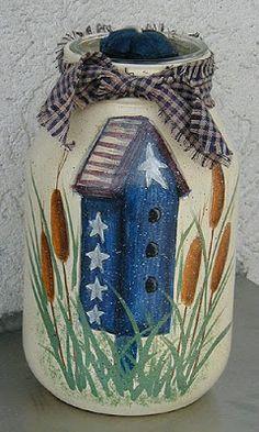 Americana Painted Jars - Crafts by Amanda