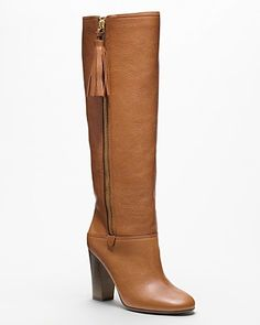 Love these COACH Therese Riding Boot in Cinnamon. Typically I don't like heeled boots but these are wonderful!