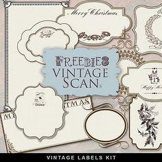 Free Vintage Scan-Far Far Hill Christmas labels
