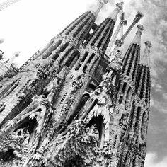 La Sagrada Familia! Gaudi's funk-tastic church. #travel #barcelona