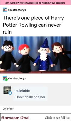 There's one piece of Harry Potter Rowling can never ruin & Don't challenge her One fear - iFunny :) Harry Potter Facts, Harry Potter Universal, Harry Potter Fandom, Tumblr Funny, Funny Memes, Hilarious, No Muggles, Yer A Wizard Harry, Harry Potter Wallpaper