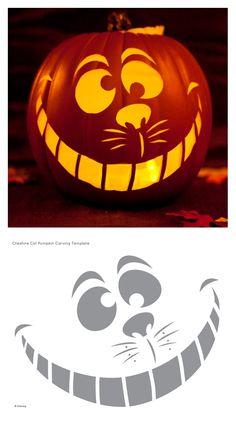 Cheshire cat jack-o-lantern