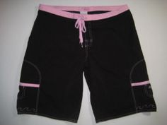 This with a Billabong rash guard top in white and pink awesome.  Billabong Jr Women's Board Shorts Swim Beach 9 Black Pink.