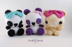 amigurumi plushies. <3 From Fluff n Stuff, http://www.etsy.com/shop/FluffNStuffCreations <3