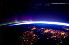 宇宙から見た、アイルランド、北アイルランド、スコットランド、イングランド
