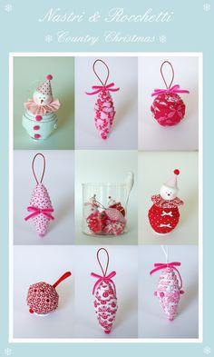 Christmas fabric balls...