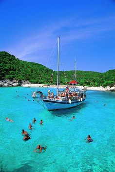 Voutoumi beach - Antipaxos island, Greece. - Selected by www.oiamansion in Santorini.